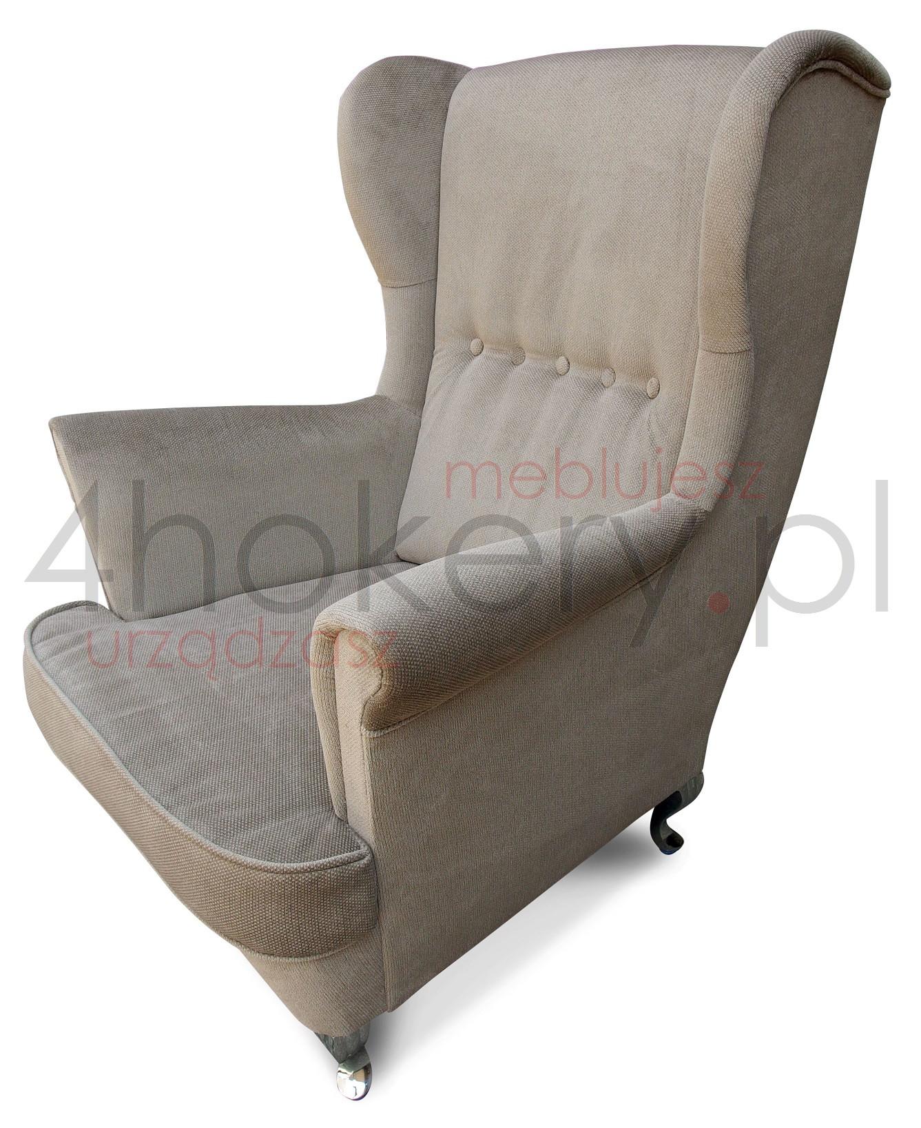 Wygodny fotel uszak - Fotel Babci do czytania i wypoczywania