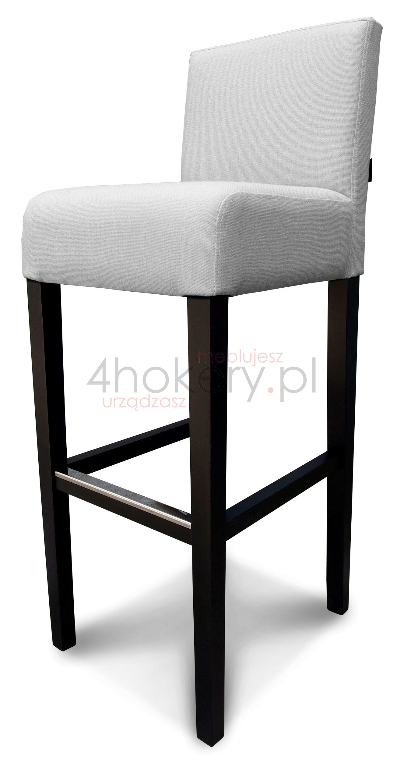 Hoker, krzesło barowe z grubym siedziskiem