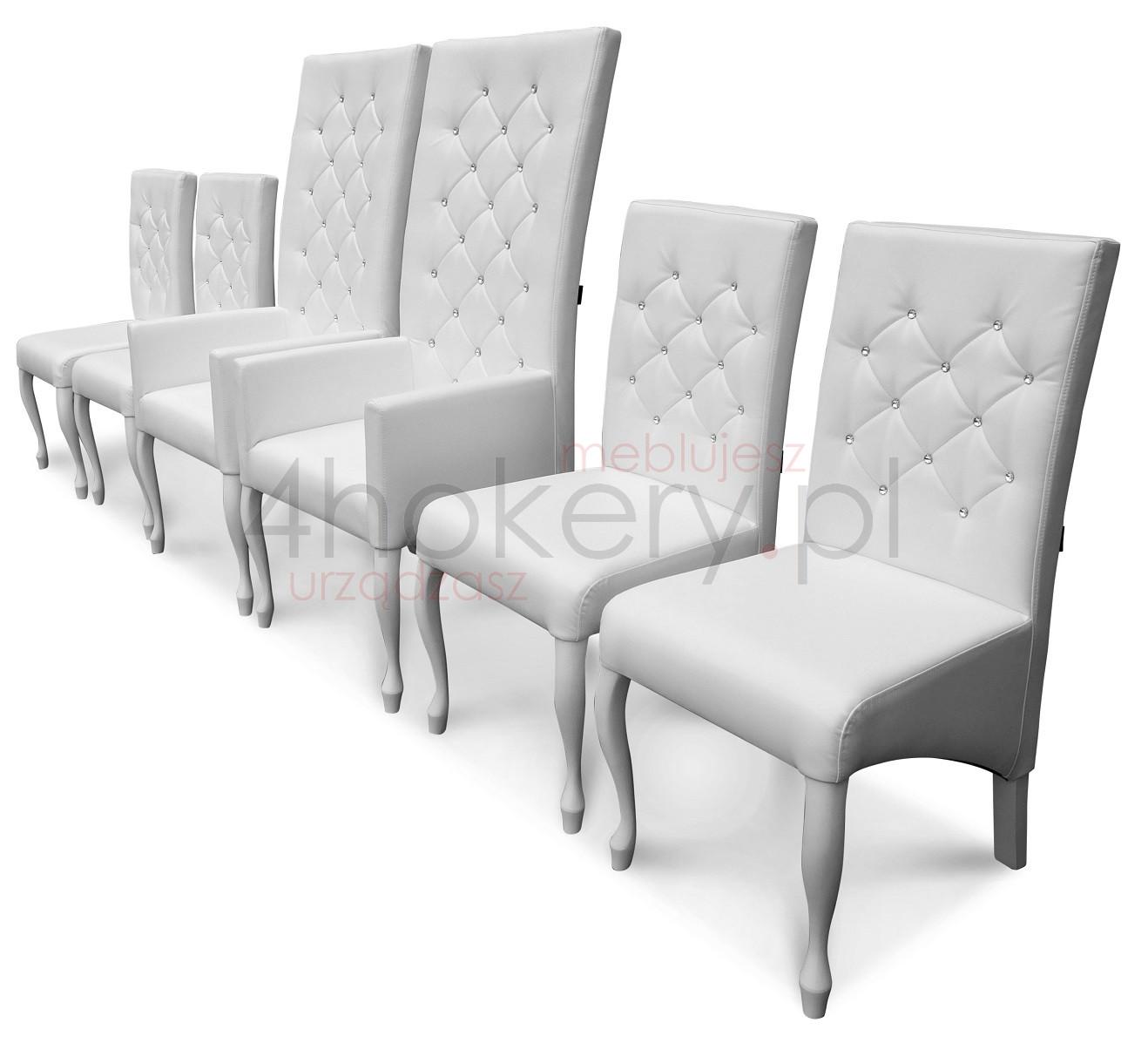 Dwa fotele i cztery wytworne krzesła czyli ślubny orszak na ślubnym kobiercu.