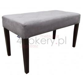 Premium  Gray - pufa wąska  do salonu lub sypialni. Przeszywana w karo, pikowana . Grubość siedziska 12cm.