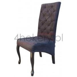 Casablanca / Nubuk - krzesło Ludwik skośne z oparciem pikowanym w karo o wysokości  108cm od ziemi.