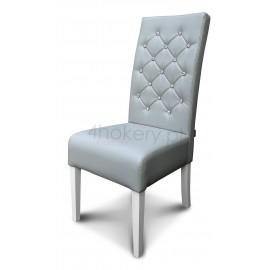 Master - krzesło grube z oparciem pikowanym w karo z kryształkami o wys. 98cm od ziemi.