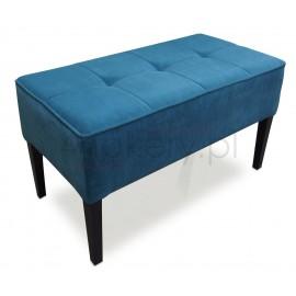 Move Torquoise / Pufa gruba z lamówką na obrzeżach. Siedzisko przeszywane w kwadraty, pikowane bez guzików. Wymiary 80x40cm.