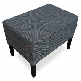 Manhattan 09 / pufa gruba. Siedzisko przeszywane w kwadraty, pikowane bez guzików. Wymiary 60 x 40cm