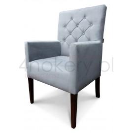 Casablanca 2316 - Fotel konferencyjny grubu. Oparcie pikowane guzikami, przeszywane w karo. Wys. oparcia 98cm.