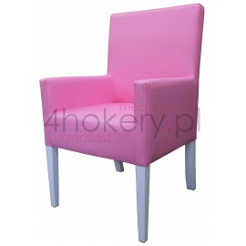 Pink - krzesło / fotel prosty z podłokietnikami i oparciem gładkim 98cm od ziemi
