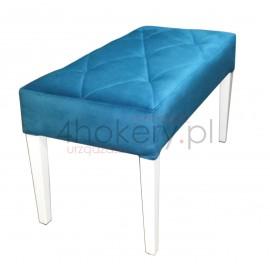 Pufa wąska / ławeczka do salonu lub sypialni. Przeszywana w długie karo, pikowana . Grubość siedziska 12cm
