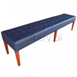 Pufa średnia / ławeczka do poczekalni itp. Przeszywana w kwadraty, pikowana guzikami. Grubość siedziska 15cm