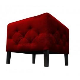 Pufa pełna / siedzisko sklepowe. Przeszywane i pikowane w karo boki . Wymiary 50 x 50 x 45cm wysokość.
