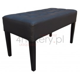 Pufa średnia / ławeczka do salonu lub poczekalni. Przeszywana w kwadraty, pikowana guzikami. Grubość siedziska 15cm