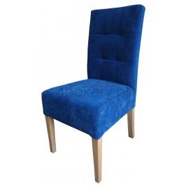 Blue Indygo - krzesło grube z oparciem  pikowanym w kwadraty. Wysokość oparcia 98cm od ziemi.