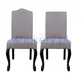 Ludwik Porto - krzesło z lamówką i oparciem gładkim. Oparcie z garbem lub proste. Wys. oparcia 98cm od ziemi.