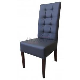 Zara - krzesło grube z oparciem pikowanym w kwadraty. Wys. oparcia 108cm od ziemi.