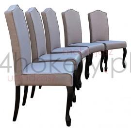 Porto 2 - krzesłoLudwik z lamówką ,oparcie z garbem. Wys. oparcia 98cm od ziemi.