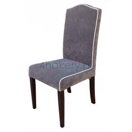 Move Gray - krzesło smukłe z lamówką z garbem w oparciu gładkim o wysokości 98cm od ziemi.