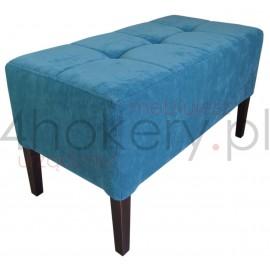 Move Turquoise - pufa gruba do salonu lub sypialni. Przeszywana w kwadraty, pikowana . Grubość siedziska 25cm.