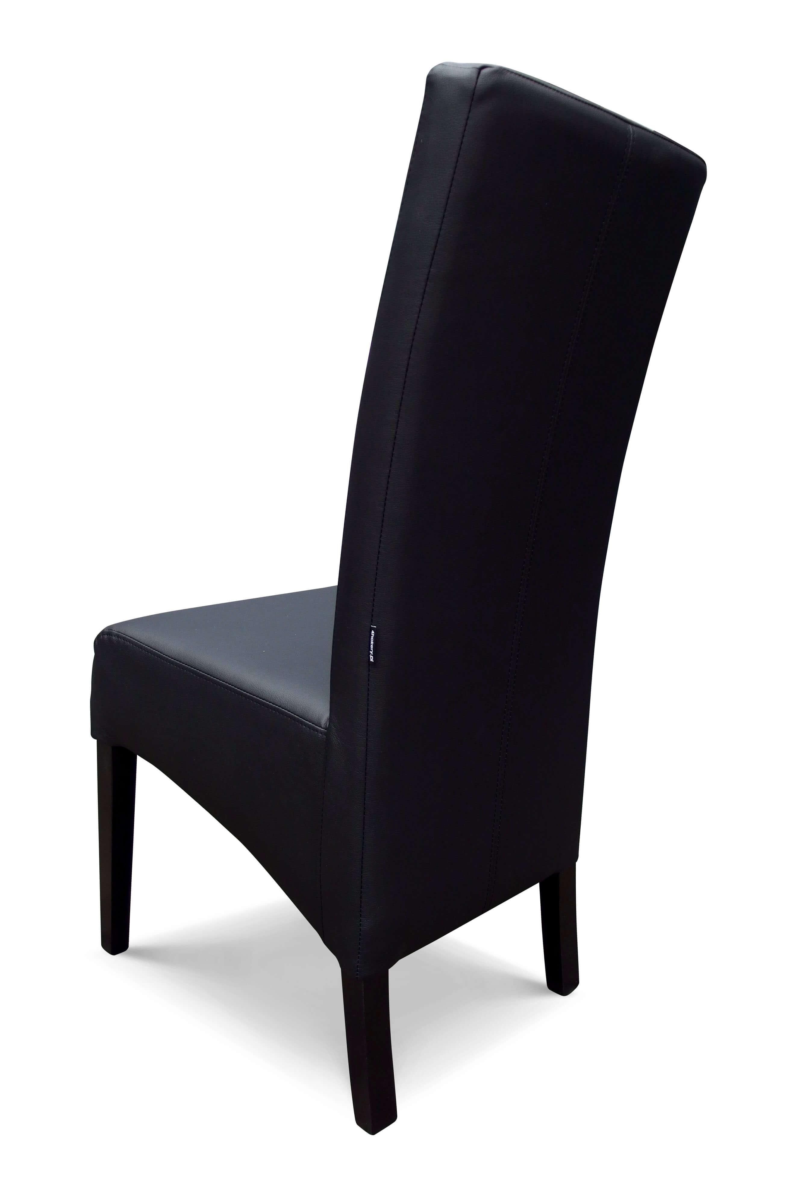 Tunis - krzesło grube, skośne, pikowane w kwadraty. Wysokość 108cm.